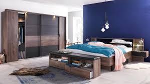 Bettbank Schlafzimmer Komplettset Virgo Schwarzeiche Und Schlammeiche Inkl Led