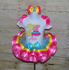 peppa pig ribbon peppa pig ribbon trim tutu pig birthday peppa pig