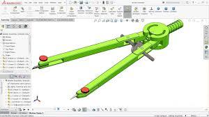 solidworks tutorial design of compass divider in solidworks