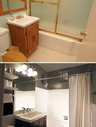 Cheap Bathrooms Ideas by A Small Bathroom Makeover Before And After Cheap Bathrooms