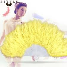 burlesque feather fans showgirl feather fans burlesque folding props fan for