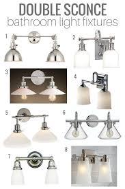 Vintage Bathroom Light Fixture Top Picks Double Sconce Bathroom Lighting Satori Design For Living