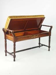 antique rosewood duet piano stool
