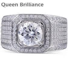 aliexpress buy 2ct brilliant simulate diamond men brilliance 2ct lab grown moissanite diamond engagement ring