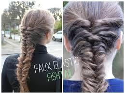 hairstyles with one elastic easy faux elastic fishtial braid tutorial hairandnailsinspiration