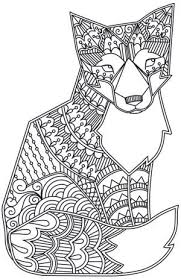 free coloring page coloring fox coloring pages