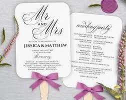 cheap wedding fan programs wedding fan program etsy