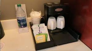 Coffee maker and water Picture of Disney s Contemporary Resort