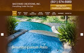 client profile backyard creations inc pool marketing site