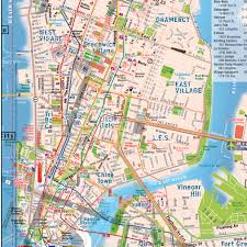 Nyc Subway Map Directions by Terramaps Nyc Manhattan Street And Subway Map Waterproof
