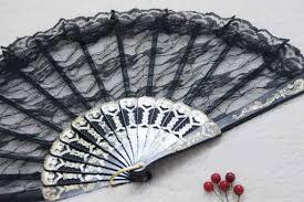 black lace fan 50pcs lot wedding lace fan black lace fan accessories