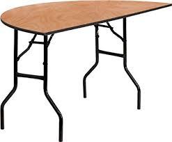 used 60 round banquet tables amazon com flash furniture 60 half round wood folding banquet