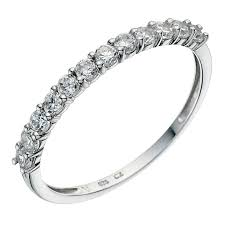 half eternity ring 9ct white gold half eternity ring ernest jones