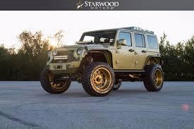 gold jeep wrangler starwood motors 2015 jeep wrangler sema world s best