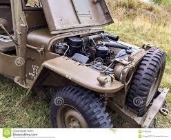 vintage military jeep vintage wwii military vehicle engine stock photo image 57865409