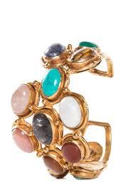 cuff bracelet with stone images Ts paris multi color stone inset gold tone cuff bracelet jpg