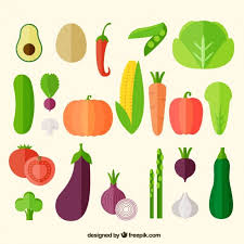 vegetables sketch set vector free download