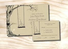 Kraft Paper Wedding Invitations Craft Paper Wedding Invitations Vintage Tree Swing Lovebirds Paper