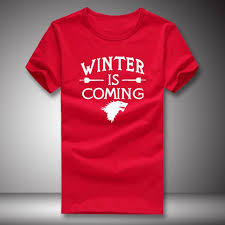 cool winter is coming t shirt summer selling game of thrones t