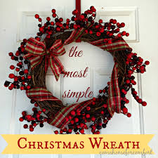 the most simple christmas wreath u2013 come home for comfort