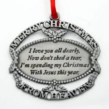 merry from heaven ornament i you dearly i will not