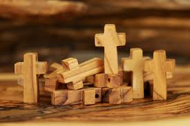 small wood crosses olive wood factory in bethlehem holy land olive wood small