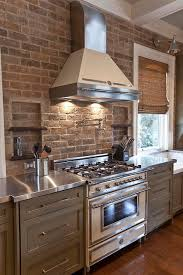 brick backsplash kitchen charming kitchen designs with brick backsplash for better visual