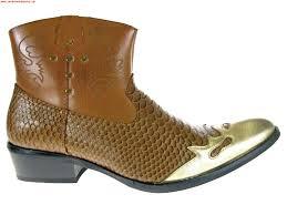 offer alfa mens m short westren cowboy boots faux snake skin 06837
