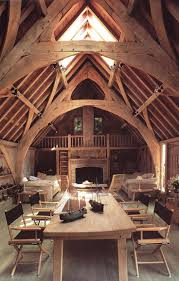 best 25 a frame cabin ideas on pinterest a frame house seagull house england this beautiful oak frame barn conversion with arch braced collar trusses is in devon england seagull house was designed by