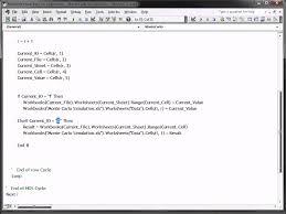 Monte Carlo Simulation Excel Template Excel Vba Monte Carlo Simulation And Risk Analysis