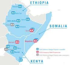 Kenya Africa Map by East Africa Famine Sos Children U0027s Villages