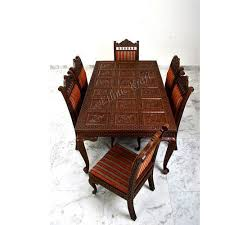 Carved Dining Table And Chairs Carved Teakwood Dining Table Set Carved Teakwood Dining Set