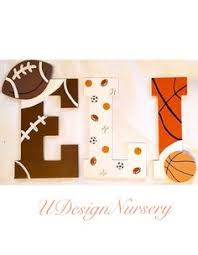 Sports Nursery Wall Decor Basketball Themed Wall Letters Baby Boys Nursery Room