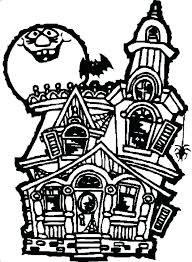 printable spooky house haunted house coloring pages gingerbread house coloring page houses