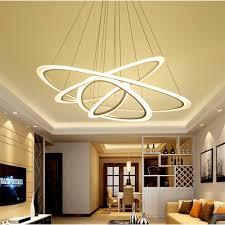 Lampen F Wohnzimmer Led Moderne Nordic Pendelleuchten Lampe 2 3 Ringe Led Leuchten