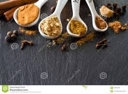 selection of spices for and thanksgiving stock photo