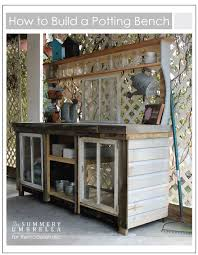 Wooden Potting Benches Remodelaholic How To Build A Potting Bench From Reclaimed Wood