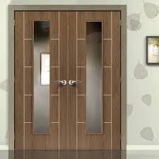 jbk eco colour mocha soft walnut flush painted door pair with
