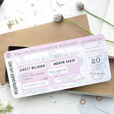 boarding pass invitations boarding pass wedding invitation vintage style by paper and inc
