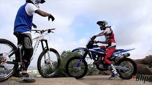 motocross mountain bike mtb vs moto x on a downhill track on vimeo