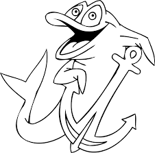 anchor coloring pages getcoloringpages com