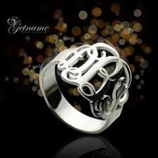 Sterling Silver Monogram Rings Silver Monogram Ring I Want It Pinterest Ring Jewelery And