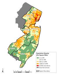 Population Density Map New Jersey Population Density Map Zachsubar