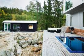 scandinavian modern glass house green home design modern house plans