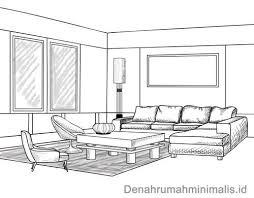 layout ruangan rumah minimalis contoh sketsa ruang tamu dan penempatan jendela denah desain rumah