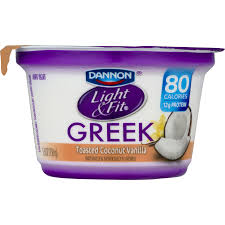 dannon light and fit nutrition nutritional value of dannon light and fit toasted coconut vanilla
