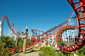 Six Flags Rollercoaster Viper Seven Loop Roller Coaster Three Were Built This Is The