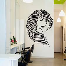 diy vinyl hair beauty salon wall decal home decor