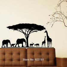 3d wall art jungle theme home decor ideas compare prices on art jungle online shopping buy low price art safari animal elephant jungle wall art stickers decals home diy decoration wall mural