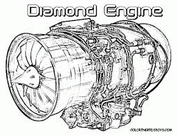 diamond aircraft motor engine coloring page bebo pandco